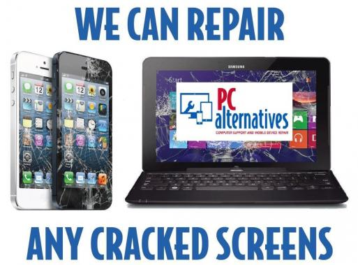 Cracked Laptop Screens Also Apple iPhones