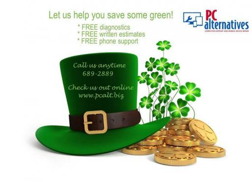 Today is your LUCKY day! $ave ALOT of green with us